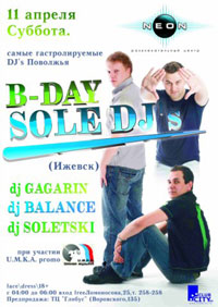 B-Day Sole DJ's